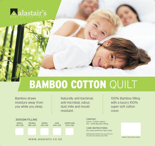 Alastairs Natural Bamboo Quilt 300 gsm