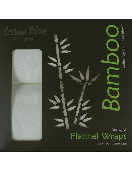 Bubba Blue Bamboo Twin Pack Flannel Wraps