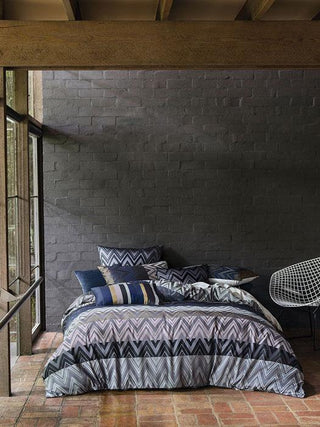 Linen House Metrique Charcoal Quilt Cover Set or Accessories