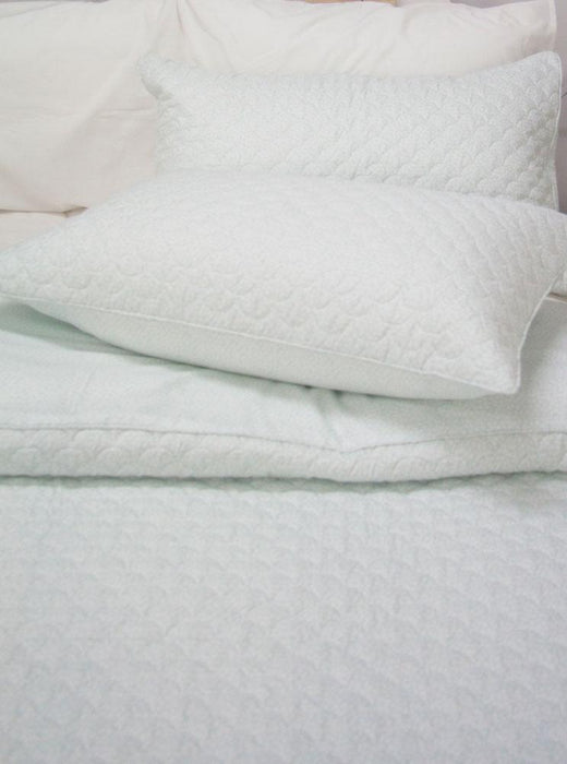 Ardor Boudoir Printed & Embossed Bath Sage Quilted Quilt Cover Set
