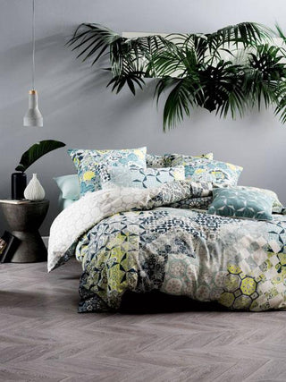 Linen House Marmaris Teal Quilt Cover Set or Accessories