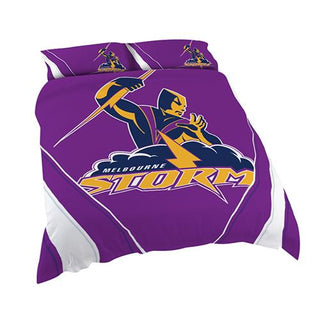 NRL Official Melbourne Storm Supporter Quilt Cover Set