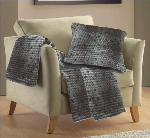 Lux Honeycomb Faux Fur Throw or Cushion