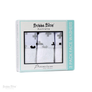 Bubba Blue Polar Bear 3 Pack Face Washers