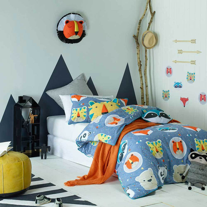 Jiggle & Giggle Kids Funny Faces Quilt Cover Set