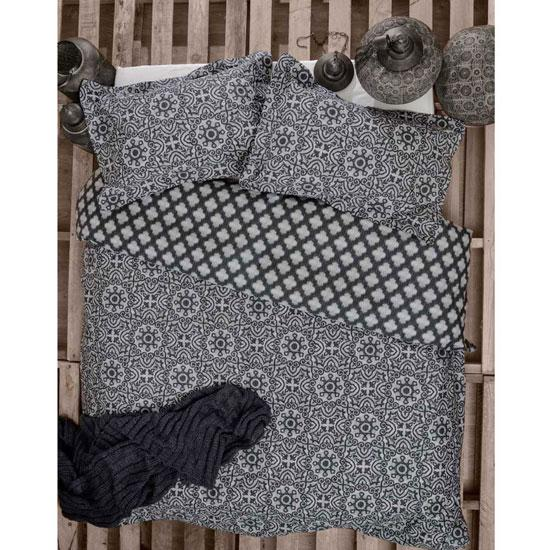 Ardor Arabesque Charcoal Quilt Cover Set