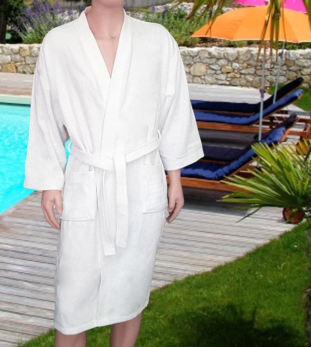 Elegant Cotton Luxury Velour Bath Robe