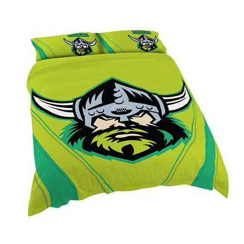 NRL Official Canberra Raiders Supporter Quilt Cover Set