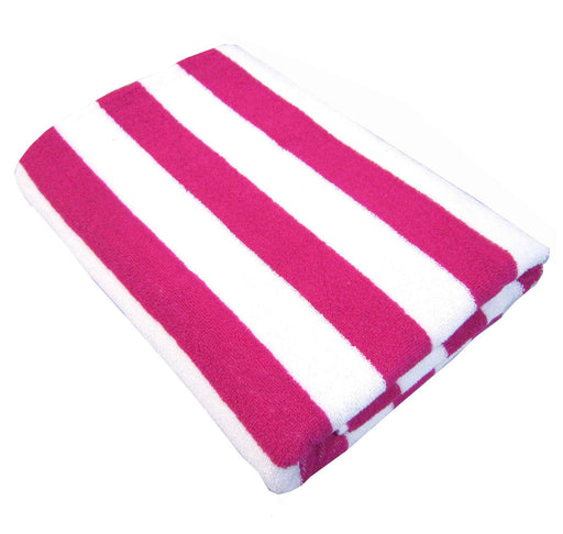Palmer Pacific Striped Pool Towel - Fuchsia
