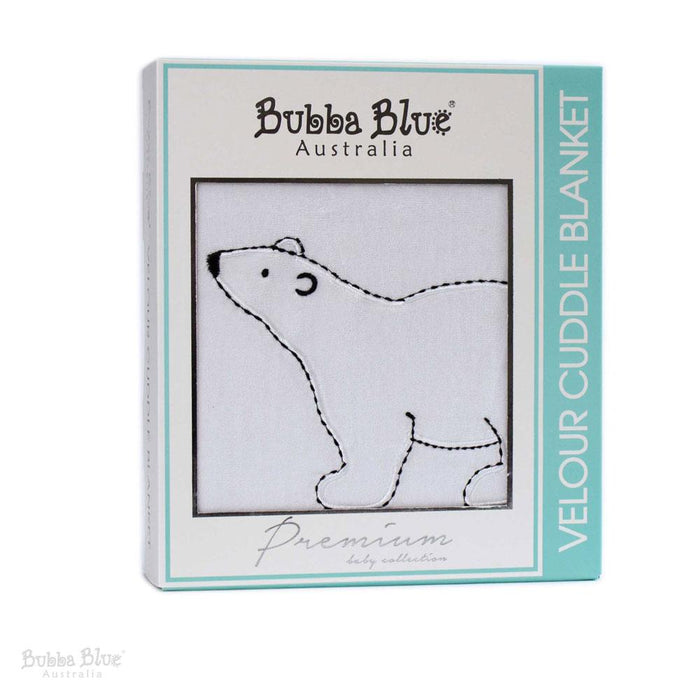 Bubba Blue Polar Bear Velour Cuddle Blanket