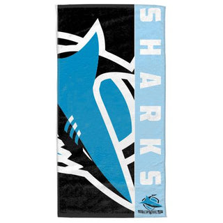 NRL Official Cronulla Sharks Supporter Cotton Velour Beach Towel