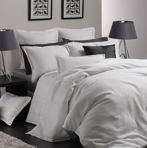 Logan and Mason Ascot Waffle White Quilt Cover Set