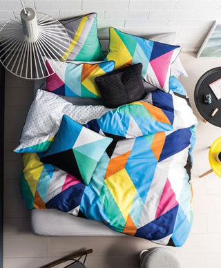 Linen House Edge Brights Quilt Cover Set