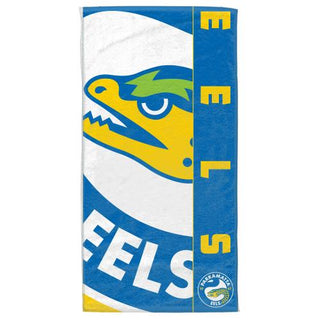 NRL Official Parramatta Eels Supporter Cotton Velour Beach Towel