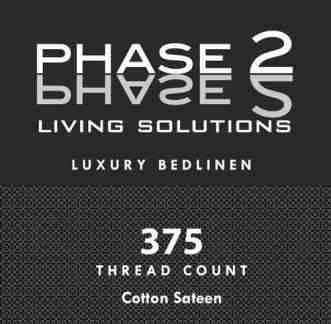 Phase 2 Living Solutions 375 Thread Count 100% Cotton Sheet Set