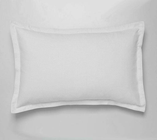 Logan and Mason Ascot Waffle White Standard Pillow Case 2pack