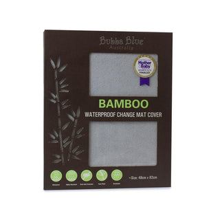 Bubba Blue Bamboo Grey Change Mat Cover