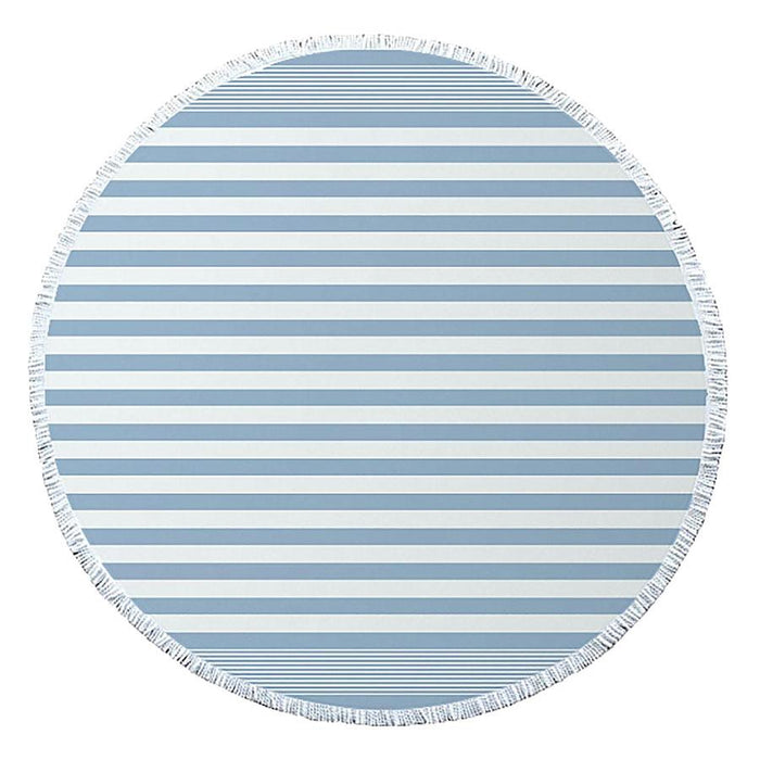 J.Elliot Turkish Round Beach Towel - Dusty Blue