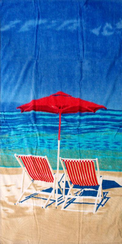 Palmer Pacific Kids Velour Beach Towel - Beach Chairs