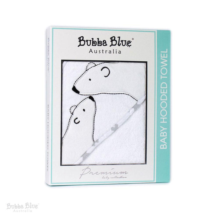 Bubba Blue Polar Bear Velour Hooded Towel (80x80cm)