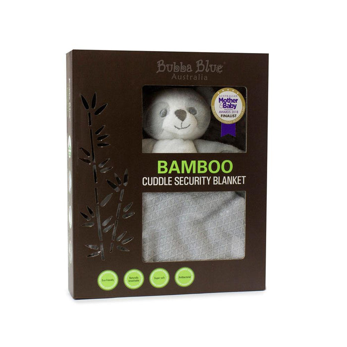 Bubba Blue Bamboo Grey Cuddle Security Blanket