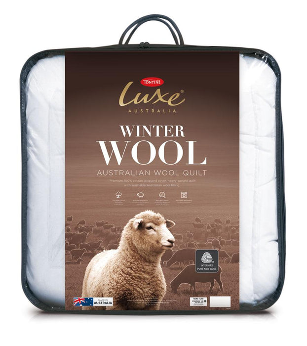 Tontine Luxe Australia Washable Winter Wool Quilt