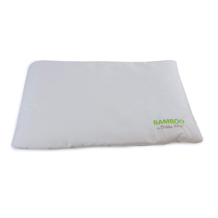 Bubba Blue Bamboo White Bassinet Pillow + Pillowcase