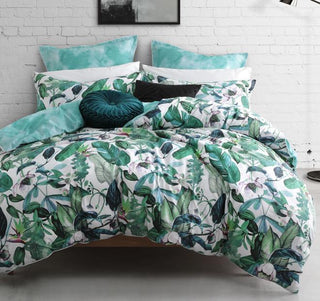 Logan & Mason Oasis Fern Quilt Cover Set