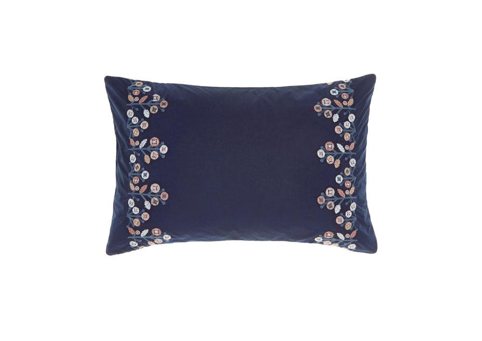 Linen House Darwin Navy Long Cushion (40x60cm)