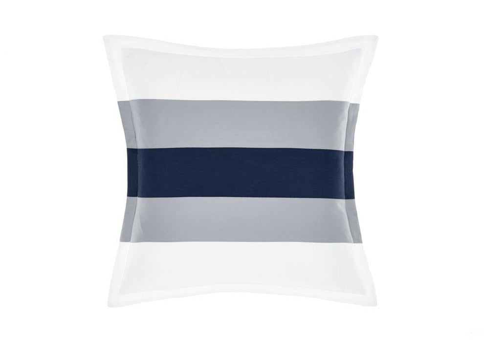 Linen House Hotel Collection 500TC Barret Navy Cushion (45x45cm)