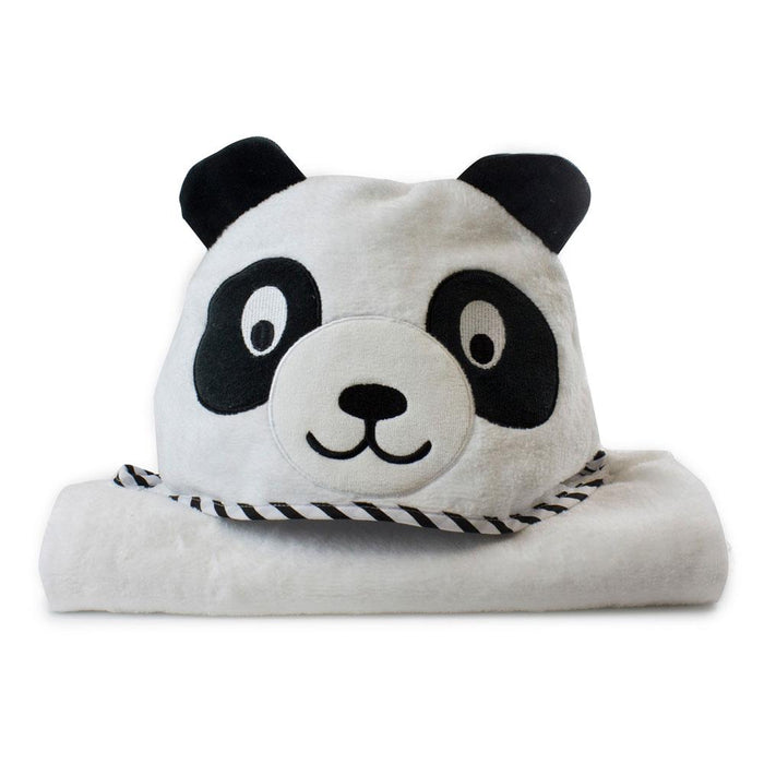Bubba Blue Zoo Animals Peter Panda Novelty Hooded Towel