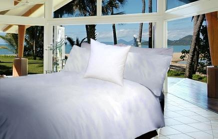 Hilton Resort Living White Quilt Cover
