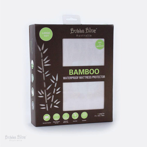 Bubba Blue Bamboo Large Cot Waterproof Mattress Protector