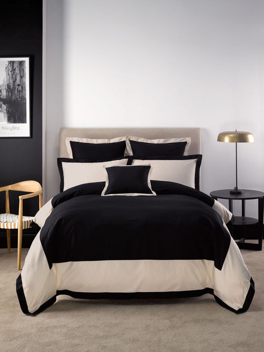 Linen House Hotel Collection 500TC Hunter Black Quilt Cover Set or Accessories