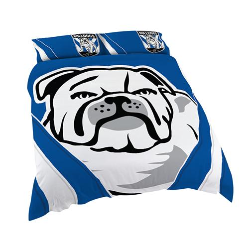 NRL Official Canterbury Bulldogs Supporter Quilt Cover Set