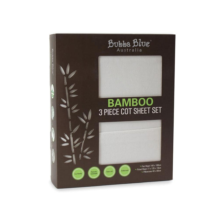 Bubba Blue Bamboo Cot Sheet Set (3 Piece)