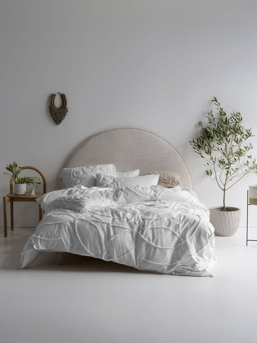 Linen House Manisha White Quilt Cover Set