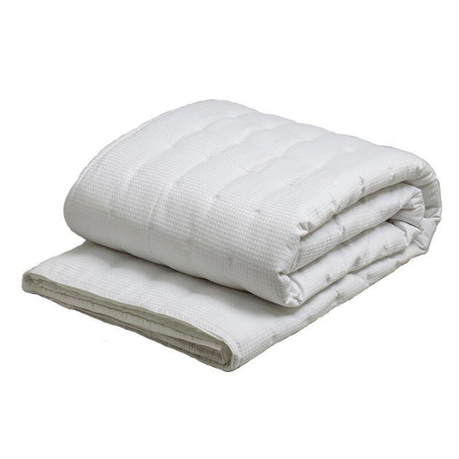 Logan and Mason Ascot Waffle White Coverlet