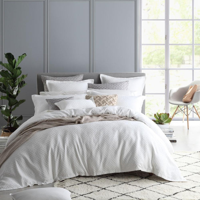 Private Collection Fitzroy White Quilt Cover Set