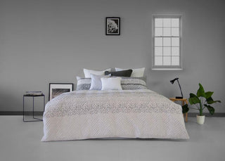 Ardor Boudoir Printed & Embossed Brooklyn Quilted Quilt Cover Set