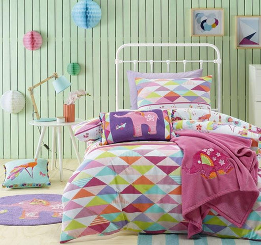 Jiggle /& Giggle Kids Boys Piper Padded Doona Quilt Cover Set Double|Queen