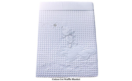 Bubba Blue Wish Upon a Star Cotton Waffle Cot Blanket