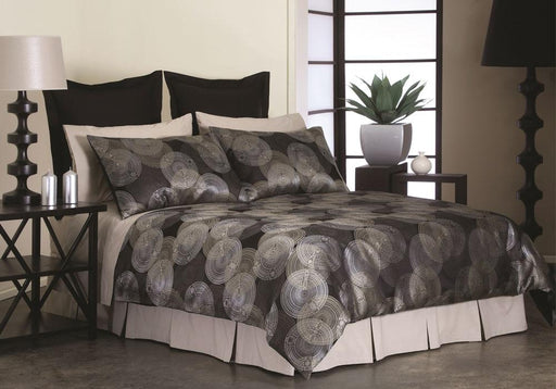 Perle Iona Black Quilt Cover Set
