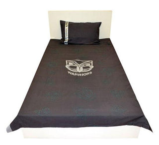 Official NRL New Zealand Warriors Quilt Cover Set Single Size
