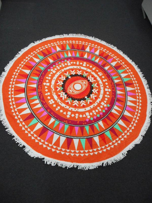 Harvey Who Velour Printed Round Beach Towel - Multi