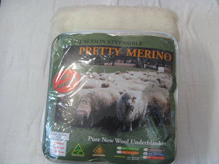 Pretty Merino Wool Under Blanket
