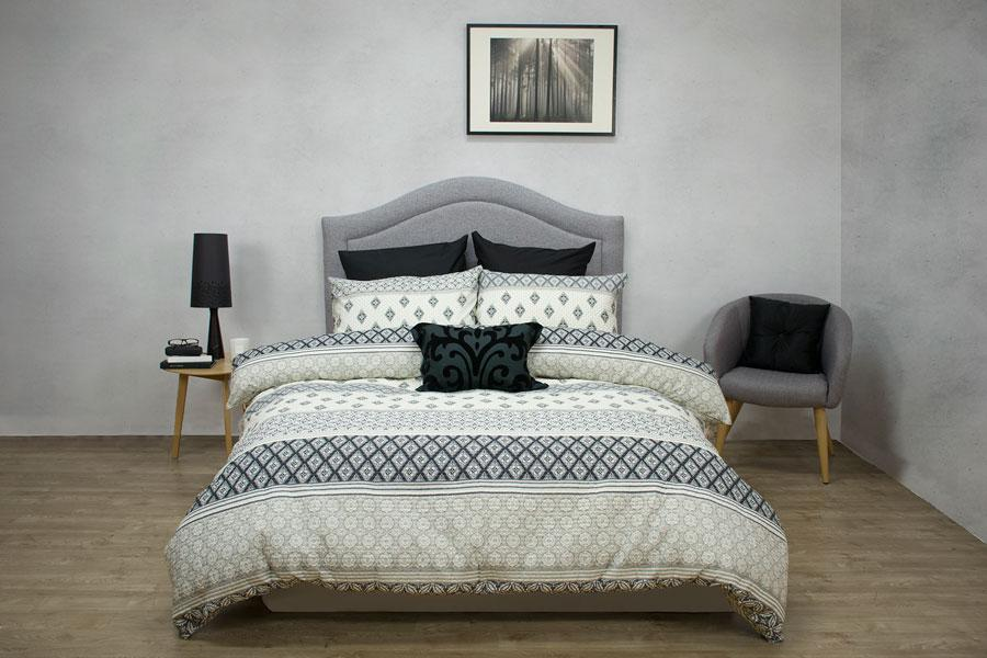 Ardor Boudoir Carnaby Grey Quilted Quilt Cover Set