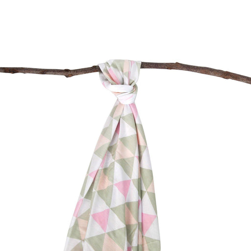 Plum Bamboo Jersey Wrap Girl Triangle-Pink