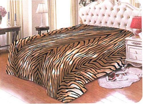 Quiltex Royal Mink Blanket - Tiger Skin