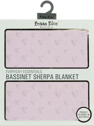 Bubba Blue Everyday Essentials Sherpa Bassinet Blanket (Love Heart)